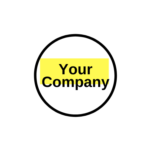 circle surrounding text your company.