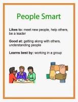 Multiple Intelligence People Smart printable poster