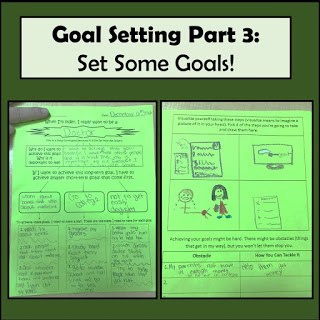 Goal setting for 4th graders: example of student written goals