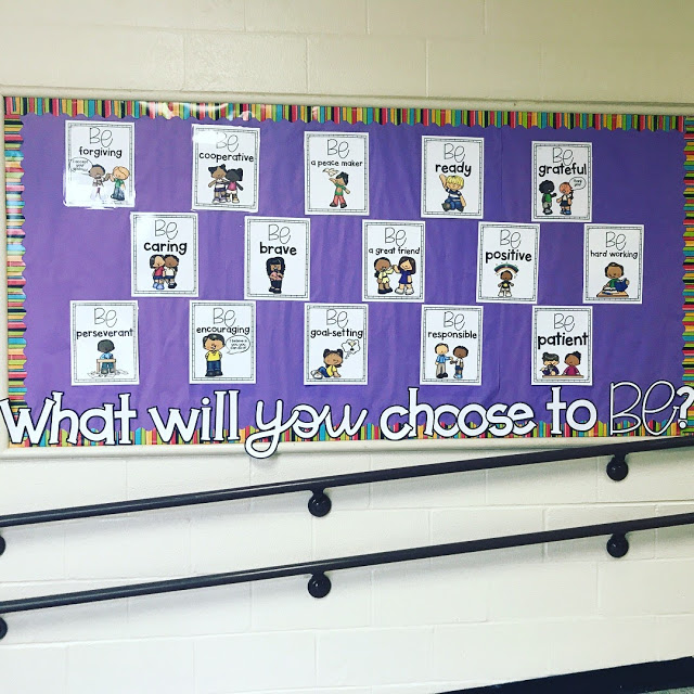 School counseling lesson plan Be a Leader Colorful bulletin with positive leader traits