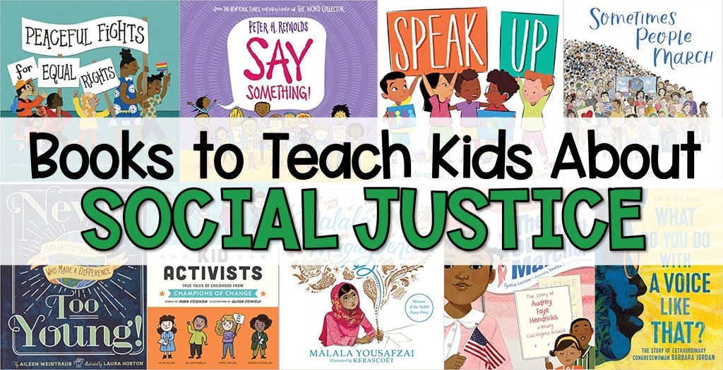 9 books covers to teach kids about social justice