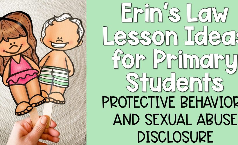 Erin's Law Activities for Primary Students