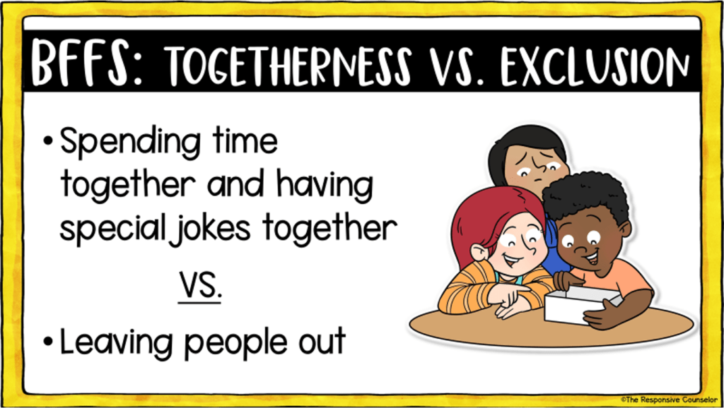 BFF's togetherness vs exclusion