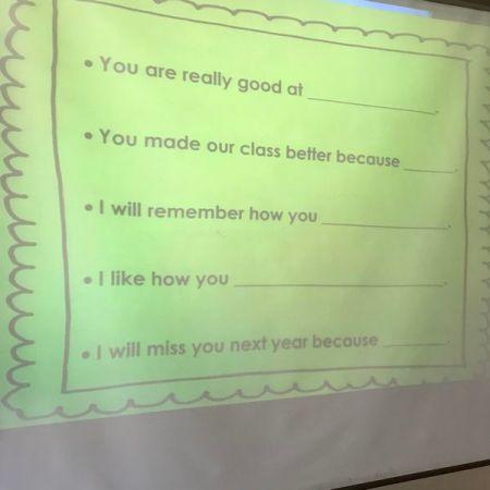 sentence stems slide presentation