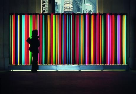 "Carlos Cruz-Diez, 'Transchrome', from the exhibition ""Dynamo"", at Grand Palais, 2013."