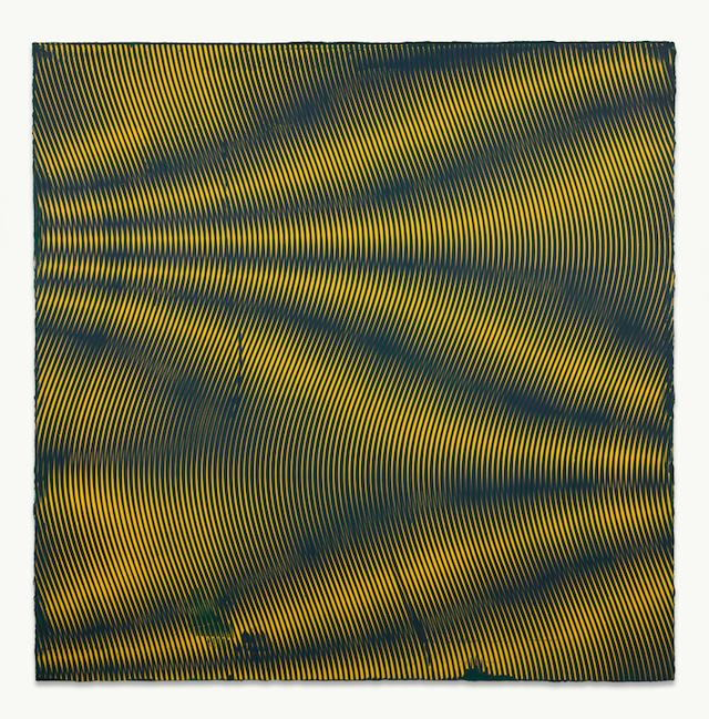 Anoka Faruqee, '2013P 84 (Wave)', 2013, acrylic on linen on panel, 45 x 45 inches.