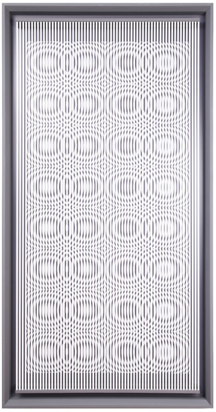 Alberto Biasi, 'Milk Drops', 1979, 51 1/5 × 25 3/5 × 1 3/5 in (130 × 65 × 4 cm).
