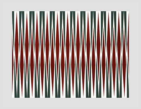 Francis Celentano, 'Poniard Series', 1965, Acrylic on masonite, 34 x 42 in (86 x 106 cm).