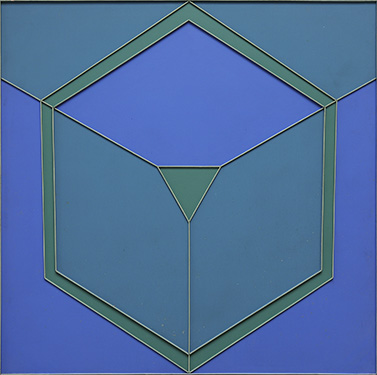 Peter Stroud, 'Green Circumvert with Yellow Green', 1963, Emulsion on wood, 60 x 60 in (152 x 152 cm).
