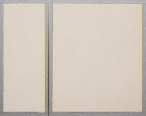 Leo Valledor, 'Together', 1968, Oil on canvas, Two panels 48 x 23 in and 48 x 46 in each, total dimensions 48 x 68 in (122 x 172 cm).