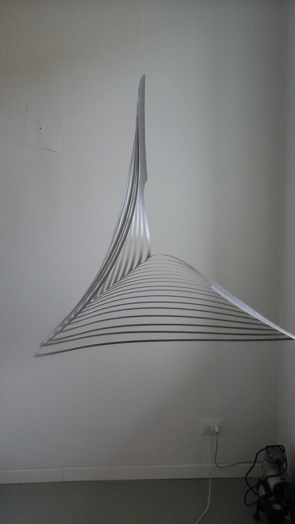 Nadia Costantini, '19-Fluttuante', 2007-2014, brushed stainless steel, diam. 103 cm.
