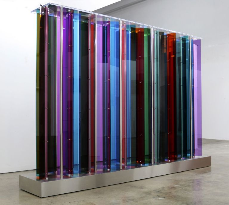Carlos Cruz-Diez, 'Transchromie Manipulable Los Angeles', 2014, mixed media, 119.69 x 81.1 inches (304 x 206 cm). Unique.