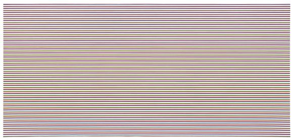 Bridget Riley, 'Late Morning (Horizontal)', 1969, Acrylic on linen, 82 5/8 x 177 1/8 inches (210 x 450 cm)