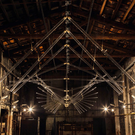 Kinetic glass installation by Studio Drift, 56th Venice Biennale, 2015