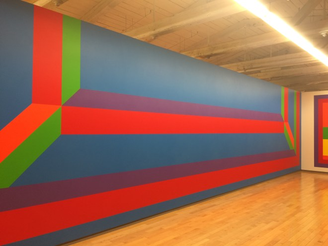Sol LeWitt, Wall Drawing 1042, Isometric form. May 2002 Acrylic paint,