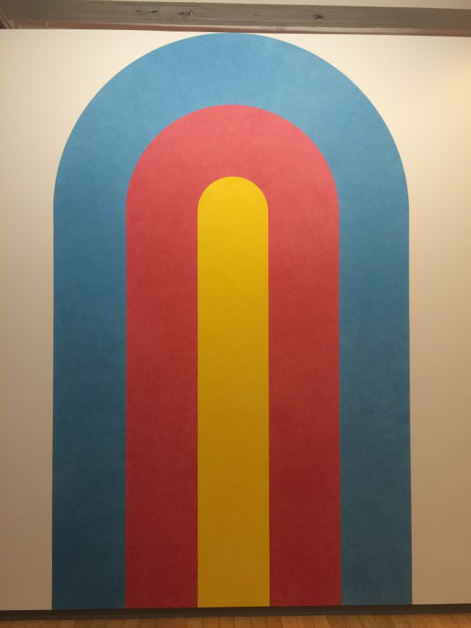 Sol LeWitt,Wall Drawing 579, Three concentric arches. T