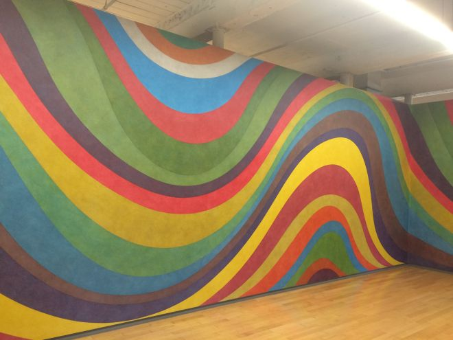 Sol LeWitt, Wall Drawing 793B, Irregular wavy color bands. January 1996, Color ink wash