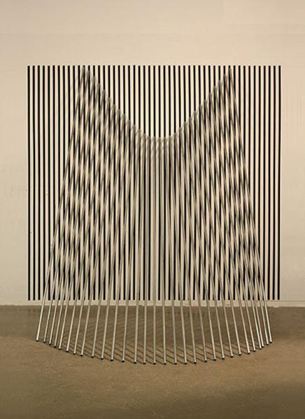 "Tom Orr CLOAK, 96"" x 96 "" x 84"" painted wood and steel"