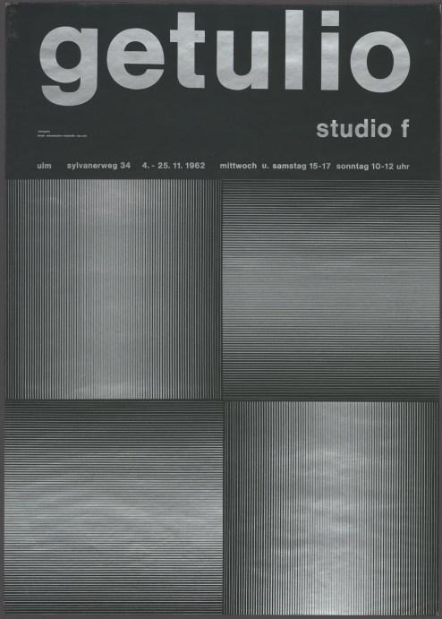 Almir da Silva Mavignier Getulio, Studio F. 1962