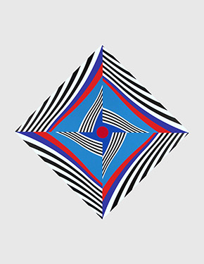 Francis Celentano, Diamond Wave in Blue and Red, 2010