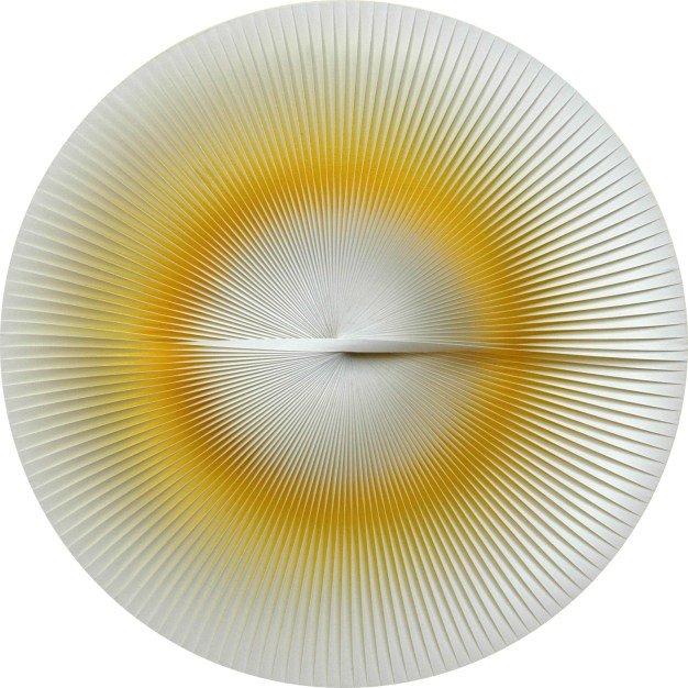 1-Yellow Variable Round Image, 1962-70, PVC relief and acrylic on panel, ø 31 cm. - 12.2 in.  copy.jpg