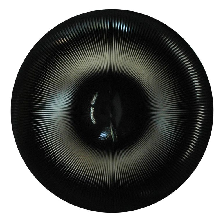 2-Dinamica Circolare, 1965-91, PVC relief and acrylic on panel, ø 61,5 cm. - 24.2 in.