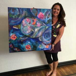 Turtle painting by SChagollan