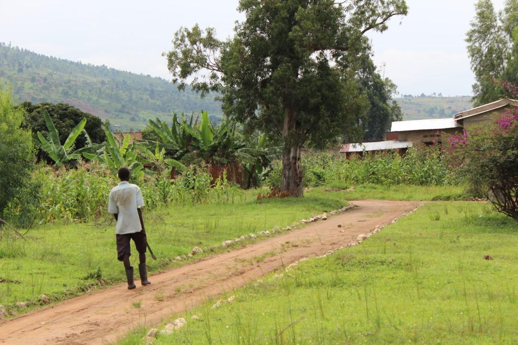 Machete man in Burundi