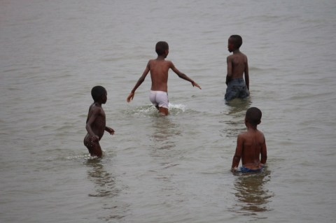 Boys in Lake Tanganyika