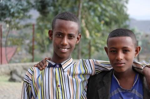 Local boys in Lalibela