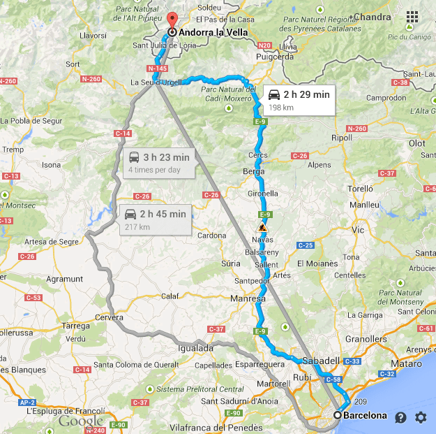 Barcelona to Andorra LuzSaintSauveur The Restless Road