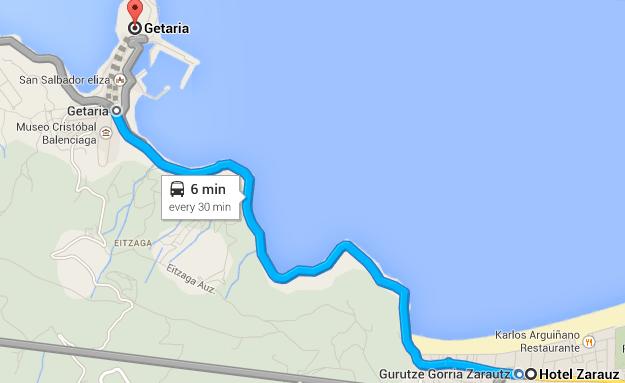 Zarauz to Getaria
