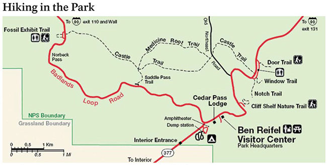 Badlands Hiking Trails