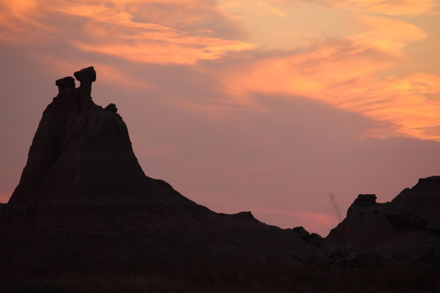 Badlands Sunset Silhouette