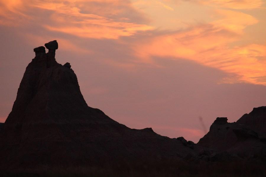 Badlands Sunset Silhouette
