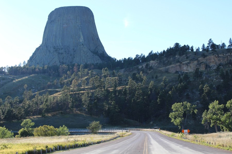 Devil's Tower Approach by Road