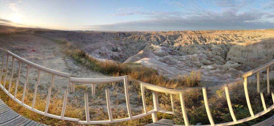 Badlands Sunrise Panoramic