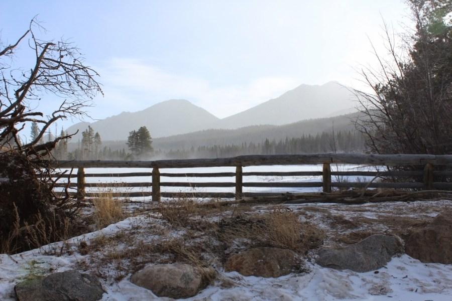 Sprague Lake - Snow-Showing in Estes Park