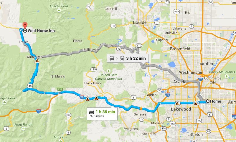 Denver to Fraser, CO