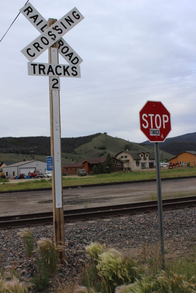 Rail crossing in Tabernash, CO