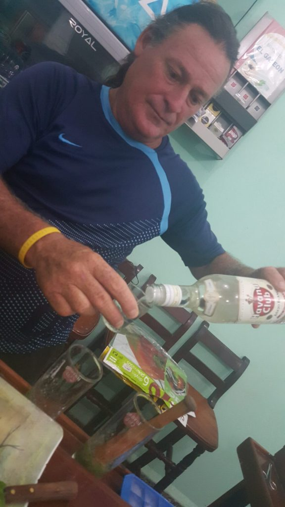 Jose making a mojito