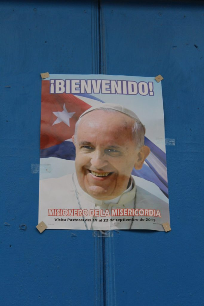 The Pope visiting Cuba