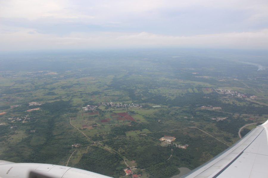 Leaving Cuba - the view from the plane