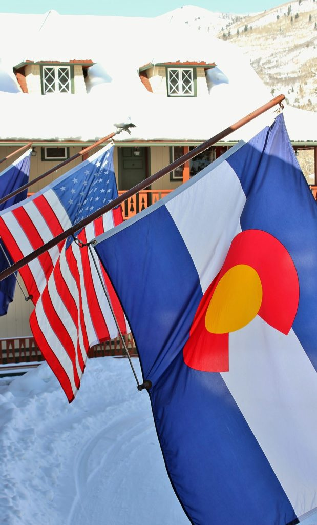 Flags at the Redstone Inn