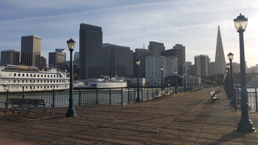 Pier 7 view of SFO