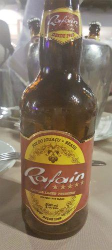 Enjoying a Rafain Beer in Iguazu Falls