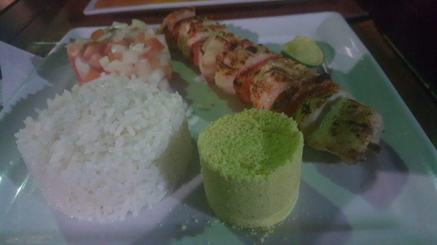 Tampiqui grilled fish kabobs