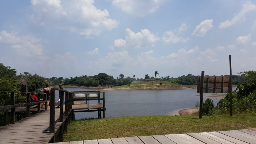 Jungle lodge view for our Amazonian adventure