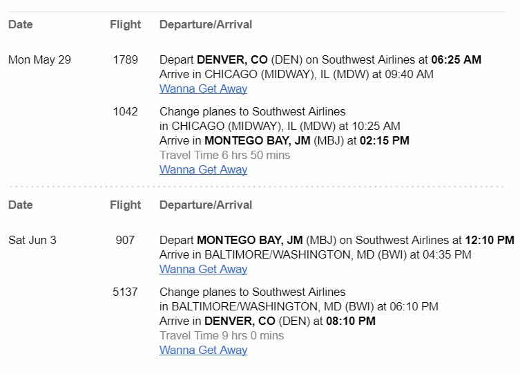 Itinerary Ocho Rios, Jamaica