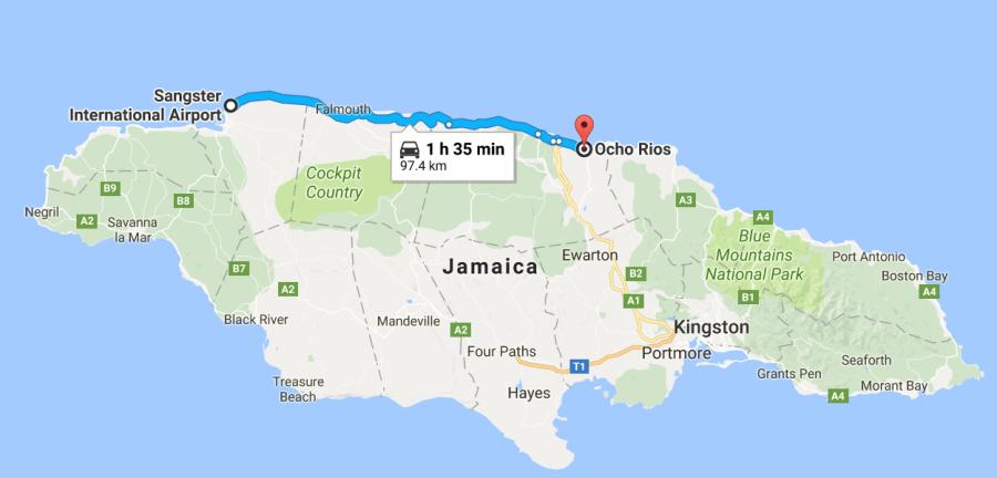 MBO to Ocho Rios, Jamaica